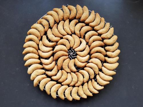 Croissants sablés à la vanille